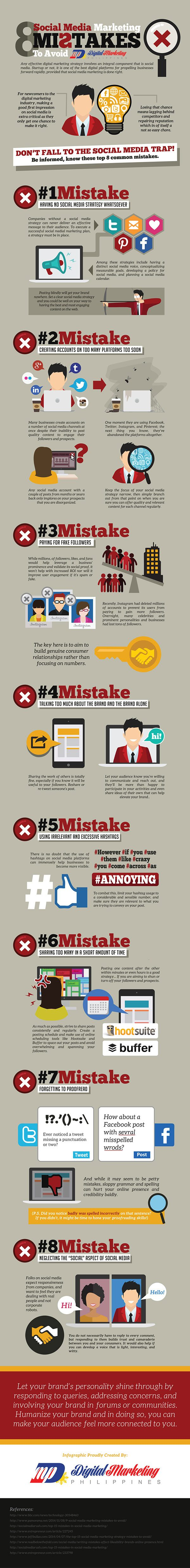 8 Social Media Marketing Mistakes to Avoid (Infographic) - An Infographic from Digital Marketing Philippines