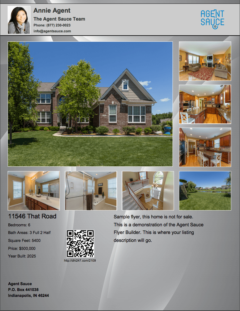 real estate flyer design and printing agent sauce