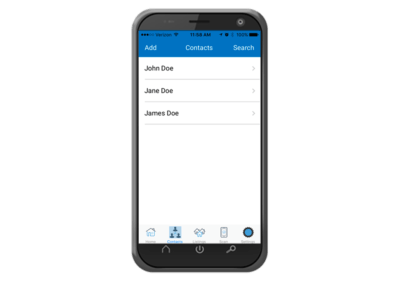 Mobile App CRM Contacts